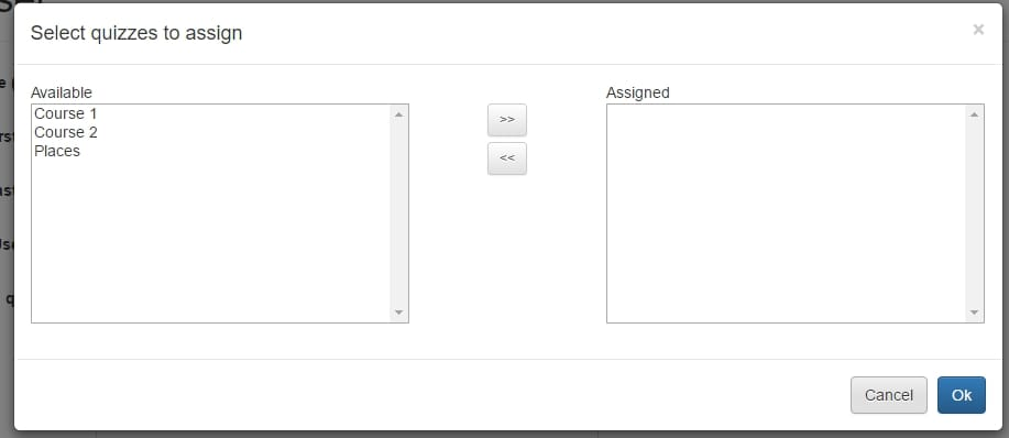 Assign user component