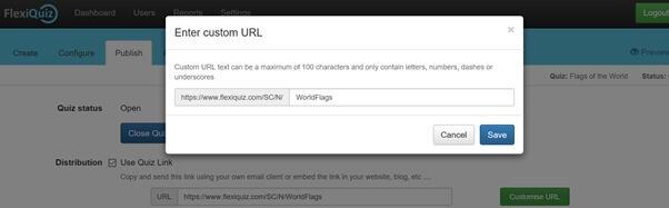 Set custom URL
