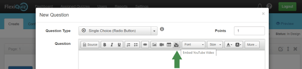 Screenshot showing YouTube button