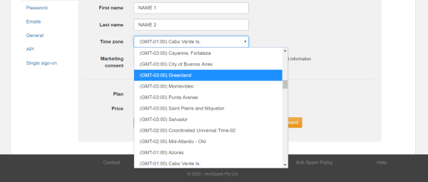 Set time zone to manage quizzes