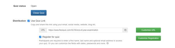 Example of quiz link