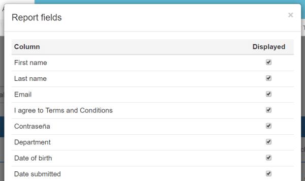 analyze quiz registration fields