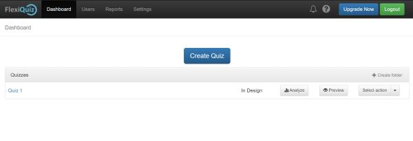 main quiz maker dashboard