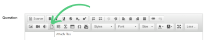 attach document to a quiz icon