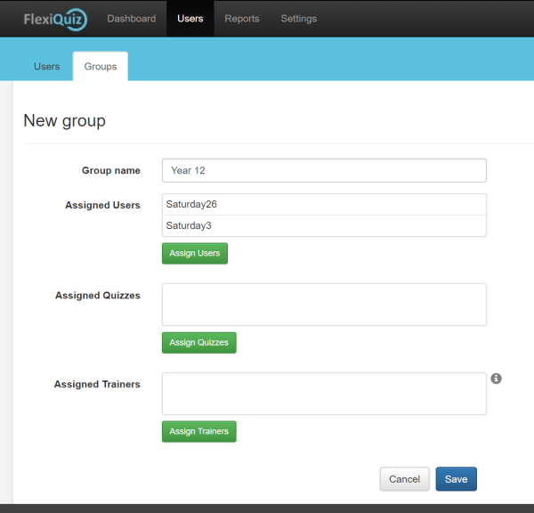 Form to add respondents to a group for online testing