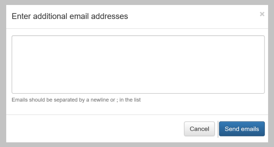 Add email addresses